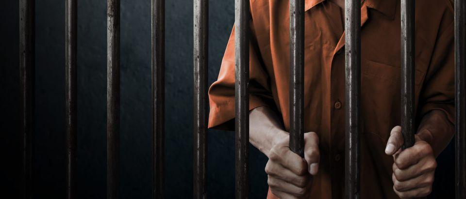 Jailed Man. Shutterstock