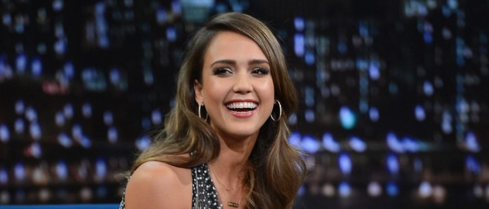 "Jessica Alba Visits ""Late Night With Jimmy Fallon"""