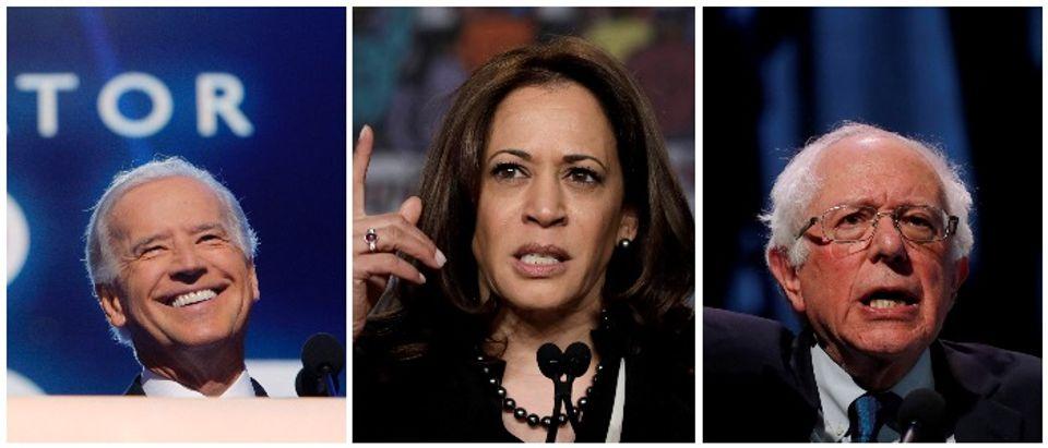 Joe Biden, Kamala Harris and Bernie Sanders (Reuters Carlos Barria, Yuri Gripas, Brian Snyder)