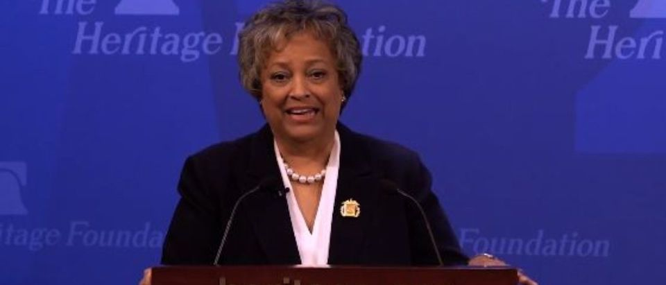 Kay Coles James speaks at a Heritage Foundation function in 2018. (Photo: screencap/YouTube/The Heritage Foundation)