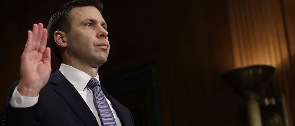 Kevin K. McAleenan, commissioner of U.S. Customs and Border Protection, is sworn in before the Senate Judiciary Committee March 6, 2019 in Washington, D.C. (Photo by Win McNamee/Getty Images)