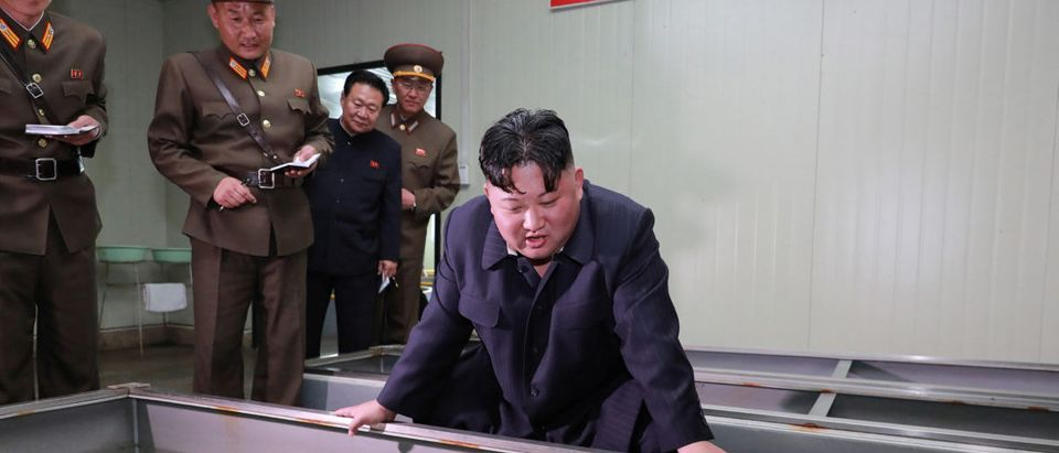 North Korean leader Kim Jong Un gives guidance during his visit to the Shinchang Fish Farm in this April 16, 2019 photo released on April 17, 2019 by North Korea's Central News Agency (KCNA). KCNA via REUTERS
