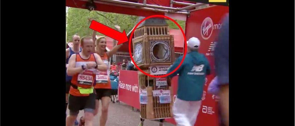 London Marathon (Credit: Screenshot/Twitter Video https://twitter.com/darrenrovell/status/1122547918735585284)
