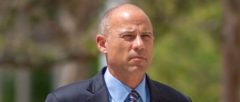 Celebrity lawyer Michael Avenatti arrives for his first hearing in Santa Ana federal court on bank and wire fraud charges on April 1, 2019 in Santa Ana, California. (Photo by David McNew/Getty Images)