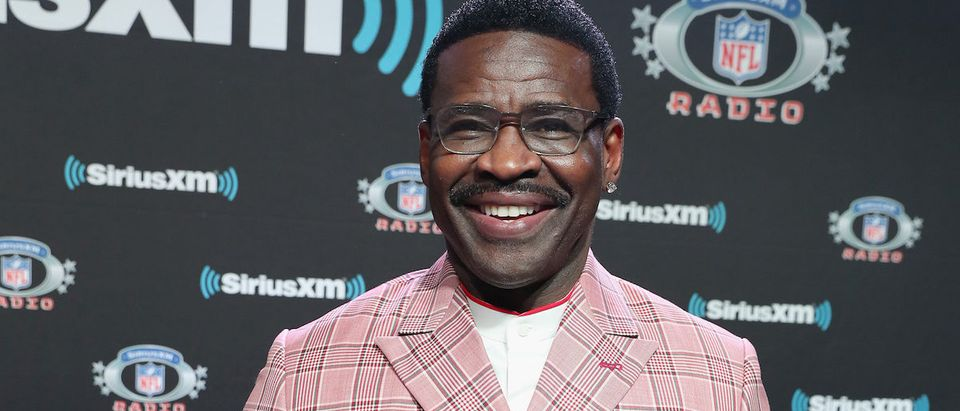 Michael Irvin attends SiriusXM at Super Bowl LIII Radio Row on January 31, 2019 in Atlanta, Georgia. (Photo by Cindy Ord/Getty Images for SiriusXM)