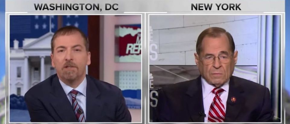 House Judiciary Committee Chairman Jerry Nadler interviewed by Chuck Todd, April 21, 2019. (YouTube screen capture/NBC News)
