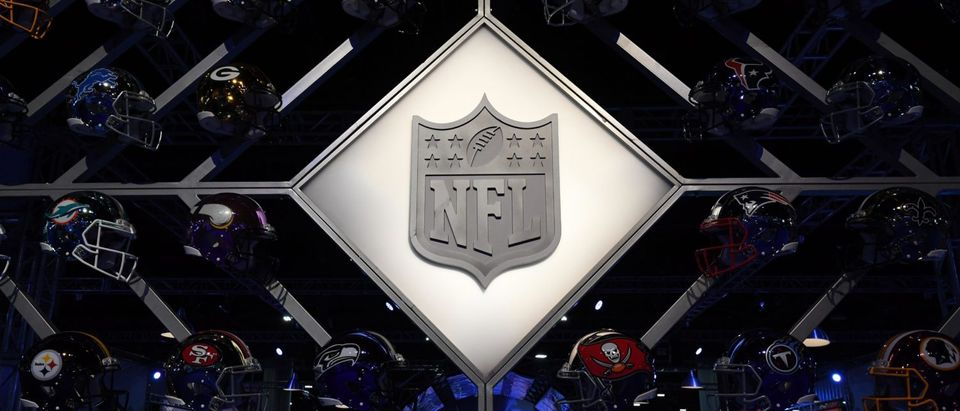 NFL Shield logo and helmets