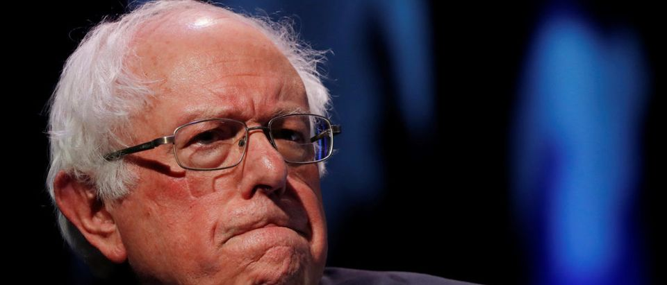 U.S. 2020 Democratic presidential candidate and Senator Bernie Sanders participates in a moderated discussion at the We the People Summit in Washington