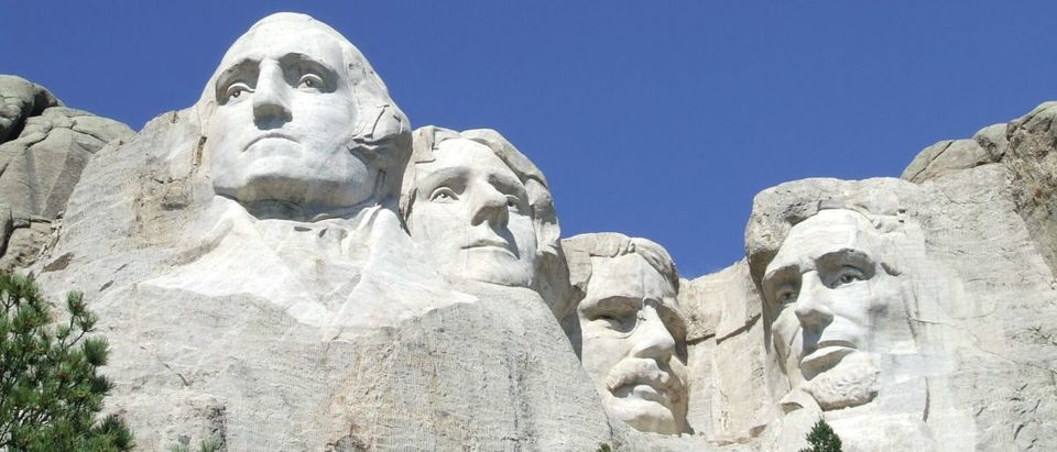 U.S. presidents George Washington, Thomas Jefferson, Theodore Roosevelt and Abraham Lincoln are sculpted on Mount Rushmore National Memorial in the Black Hills region of South Dakota, U.S. in this U.S. National Park Service photo taken on April 12, 2013. Courtesy NPS/Handout via REUTERS