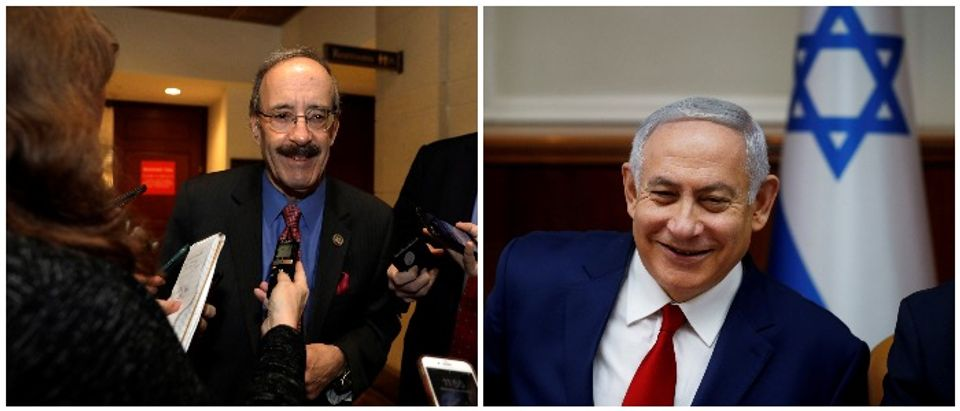 Rep. Engel and Prime Minister Netanyahu(RIGHT: Engel REUTERS:Yuri Gripas, Left: REUTERS:Ronen Zvulun:File Photo)