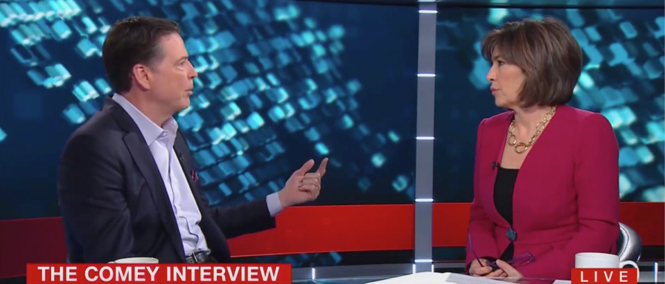 James Comey Interviewed By Christiane Amanpour (CNN Screenshot: April 2, 2019)