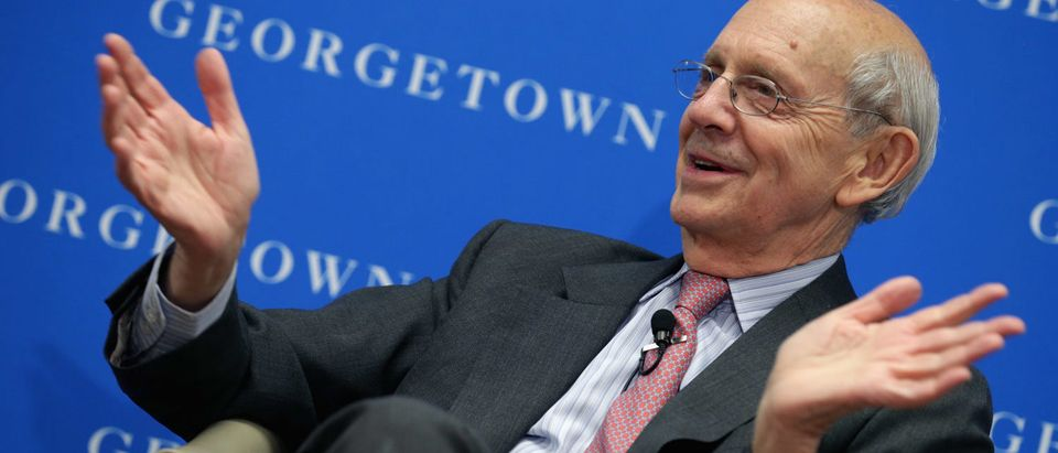 Justice Stephen Breyer participates in a panel at Georgetown University Law Center on April 21, 2014 (Chip Somodevilla/Getty Images)