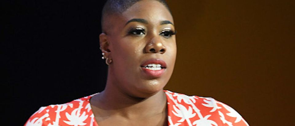 Symone Sanders speaks onstage during the 2018 Essence Festival presented by Coca-Cola at Ernest N. Morial Convention Center on July 6, 2018 in New Orleans, Louisiana. (Photo by Paras Griffin/Getty Images for Essence)