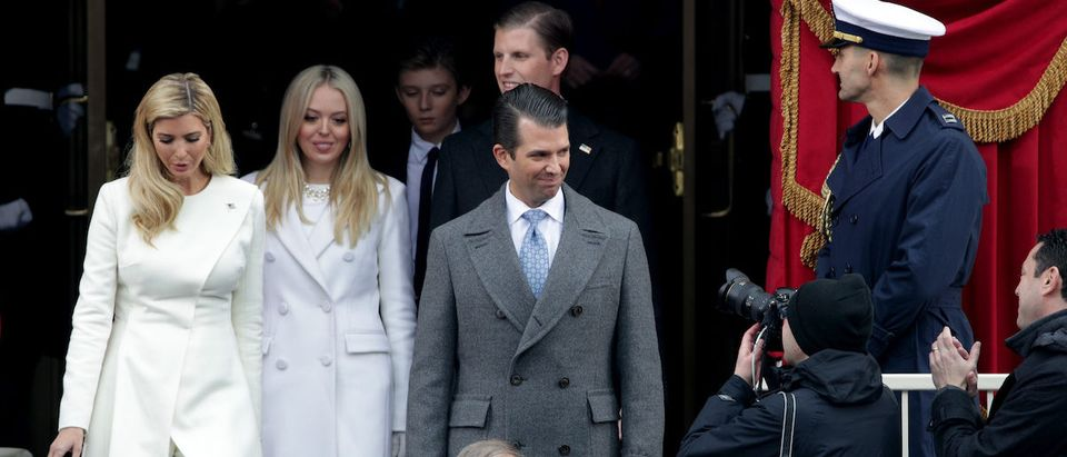 President-Elect Donald Trump's children Ivanka Trump (L), Tiffany Trump, Donald Trump Jr, and Eric Trump arrive on the West Front of the U.S. Capitol on January 20, 2017 in Washington, DC. In today's inauguration ceremony Donald J. Trump becomes the 45th president of the United States. (Photo by Alex Wong/Getty Images)