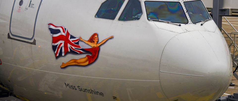 The traditional Flying Lady on a Virgin Atlantic aircraft. Shutterstock image.