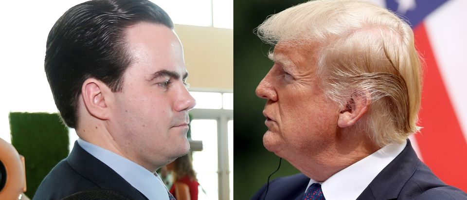Washington Post national political reporter Bob Costa (L) and President Donald Trump got into a Twitter dispute on April 24, 2019. (REUTERS/Joe Skipper and LUONG THAI LINH/AFP/Getty Images)