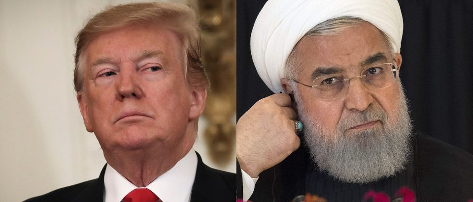 President Donald Trump (L) and Iranian President Hassan Rouhani (R) are in a tit-for-tat escalation of tensions. Drew Angerer/Getty Images and JIM WATSON/AFP/Getty Images)