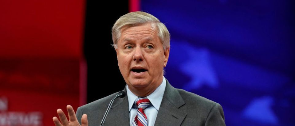 Senator Lindsey Graham (R-SC) speaks at the Conservative Political Action Conference (CPAC) at National Harbor in Oxon Hill, Maryland, U.S., February 28, 2019. REUTERS/Kevin Lamarque