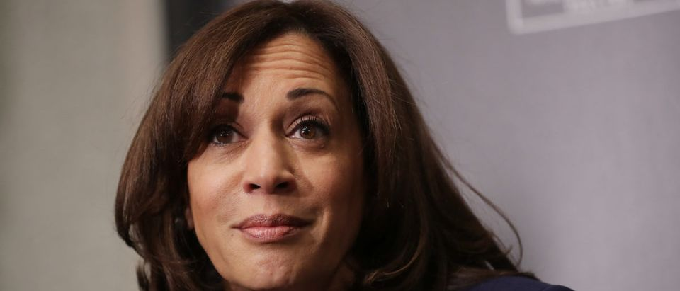 Democratic presidential candidate Sen. Kamala Harris participates in a interview and question-and-answer session with leaders from historically black colleges and universities during a Thurgood Marshall College Fund event at the JW Marriott Feb. 7, 2019 in Washington, D.C. (Photo by Chip Somodevilla/Getty Images)