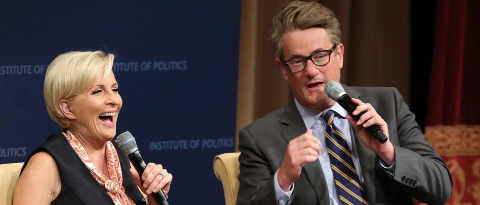MSNBC TV Hosts Joe Scarborough And Mika Brzezinski Interviewed By Philanthropist And Financier David Rubenstein In DC