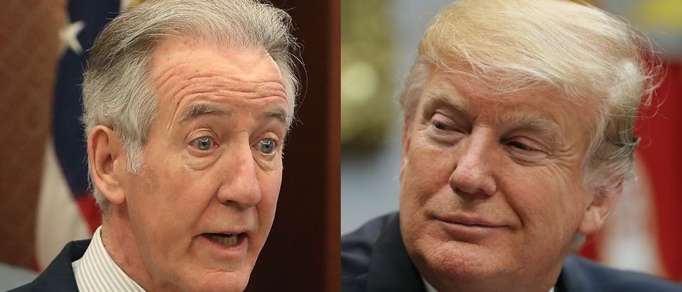Ways and Means Chairman Richard Neal (L) wants to see President Donald Trump's (R) tax returns. Mark Wilson/Getty Images and Chip Somodevilla/Getty Images