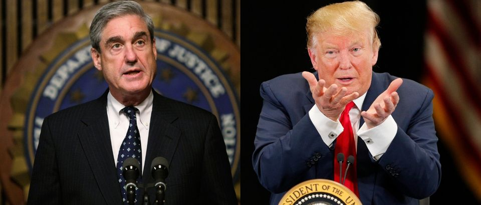 Special counsel Robert Mueller (L) has been investigating the 2016 Trump campaign for the past 22 months. Alex Wong/Getty Images and Adam Bettcher/Getty Images