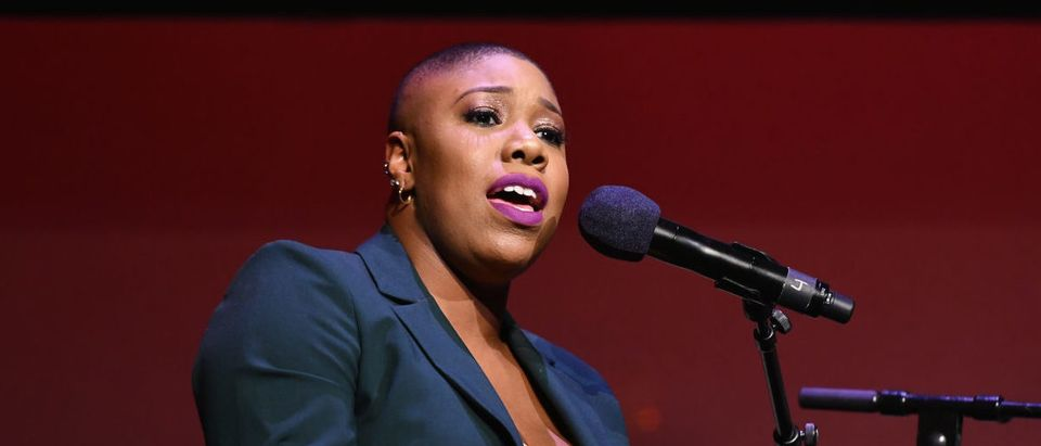 Symone Sanders speaks onstage during Global Citizen Week: At What Cost? at The Apollo Theater on September 23, 2018 in New York City. Noam Galai/Getty Images for Global CitizenGlobal Citizen Week: At What Cost?