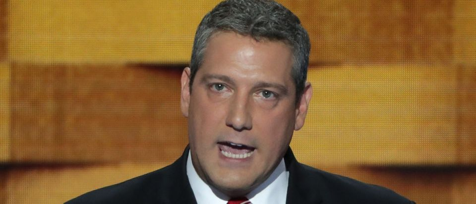 U.S. Representative Tim Ryan delivers remarks on the fourth day of the Democratic National Convention at the Wells Fargo Center, July 28, 2016 in Philadelphia, Pennsylvania. (Photo by Alex Wong/Getty Images)