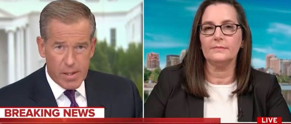Brian Williams and Joyce Vance discuss AG Barr press conference. Screen Shot/MSNBC
