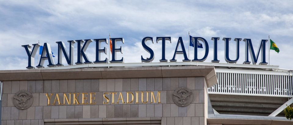 Yankee Stadium is seen in the daylight. Shutterstock image via Kaesler Media