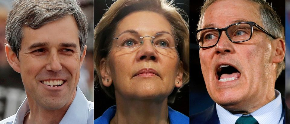 Twenty two 2020 Democratic presidential candidates in a combination photos