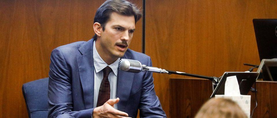 Actor Ashton Kutcher testifies at the murder trial of accused serial killer Michael Thomas Gargiulo in Los Angeles, California, U.S., May 29, 2019. Genaro Molina/Pool via REUTERS