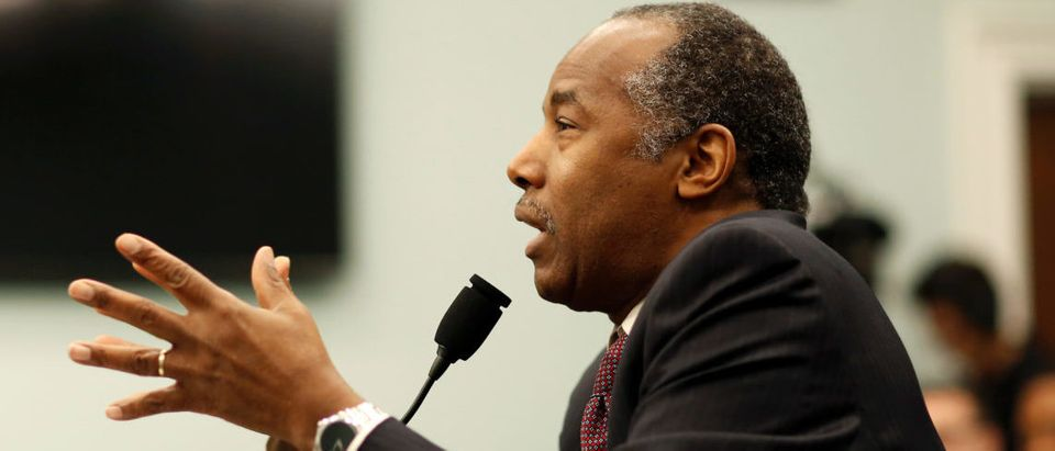 U.S. Secretary of Housing and Urban Development Ben Carson testifies to House Appropriations Transportation, Housing and Urban Development and Related Agencies Subcommittee on Capitol Hill in Washington