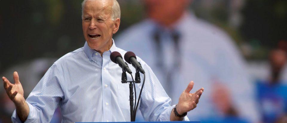 Democratic 2020 U.S. presidential candidate and former Vice President Joe Biden speaks during a campaign stop in Philadelphia, Pennsylvania, U.S., May 18, 2019. REUTERS/Mark Makela