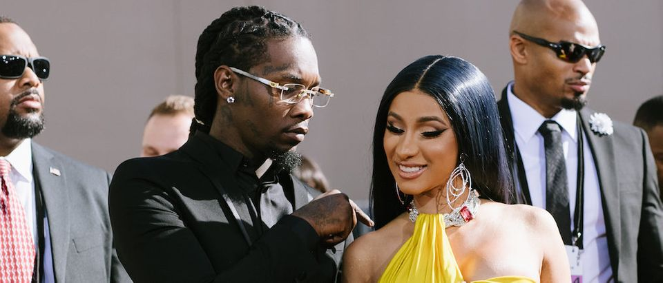 Offset and Cardi B arrive at the 2019 Billboard Music Awards at MGM Grand Garden Arena on May 01, 2019 in Las Vegas, Nevada. (Photo by Emma McIntyre/Getty Images for dcp)