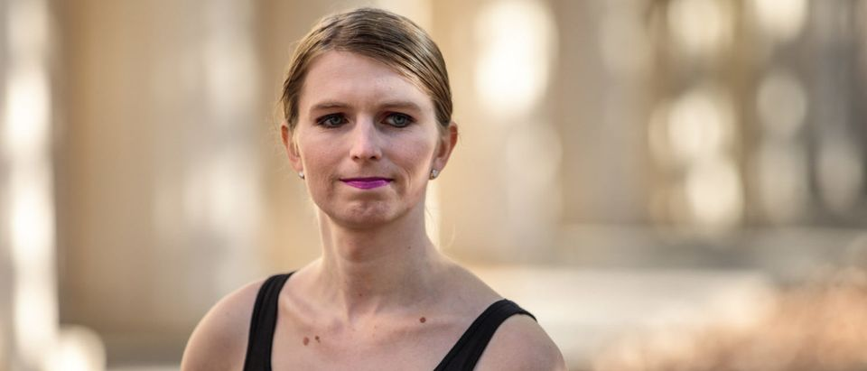 Former American soldier and whistleblower Chelsea Manning poses during a photo call outside the Institute Of Contemporary Arts (ICA) ahead of a Q&A event on Oct. 1, 2018 in London. (Photo by Jack Taylor/Getty Images)