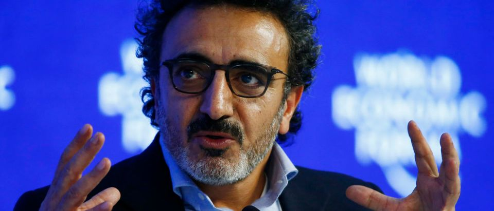 "Hamdi Ulukaya, Chief Executive Officer of Chobani attends the session ""The Humanitarian Imperative: A Global, Regional and Industry Response"" during the Annual Meeting 2016 of the World Economic Forum (WEF) in Davos, Switzerland, Jan. 20, 2016. REUTERS/Ruben Sprich"