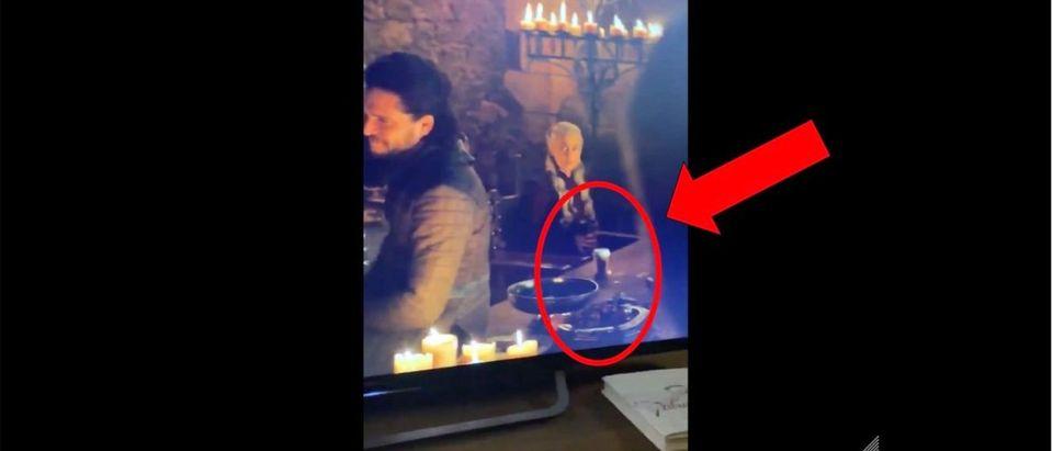 Game of Thrones Coffee Cup (Credit: Screenshot/Twitter Video https://twitter.com/zane/status/1125289538845327361)