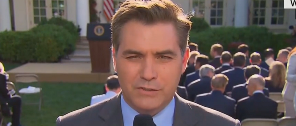 Jim Acosta offers conspiracy theory behind Tiger medal (CNN screengrab)