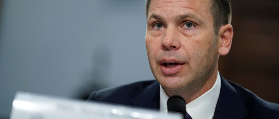 """Acting U.S. Homeland Security Secretary Kevin McAleenan testifies before a House Appropriations Homeland Security Subcommittee hearing on """"FY2020 Budget Hearing - Department of Homeland Security."""" on Capitol Hill in Washington"""
