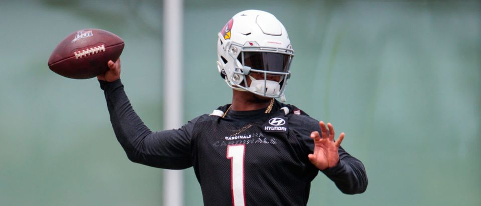 May 10, 2019; Phoenix, AZ, USA; Arizona Cardinals quarterback Kyler Murray during rookie minicamp at the teams training facility. Mandatory Credit: Mark J. Rebilas-USA TODAY Sports - via Reuters