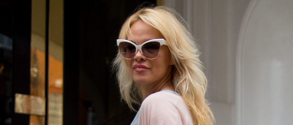 Pamela Anderson Delivers Vegan Lunch To Julian Assange At The Ecuadorian Embassy