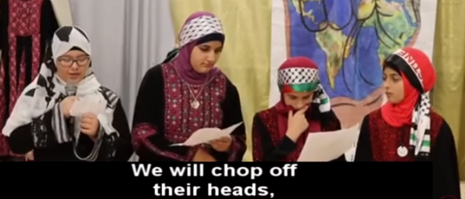Philadelphia Muslim students talk about chopping off heads (screengrab)