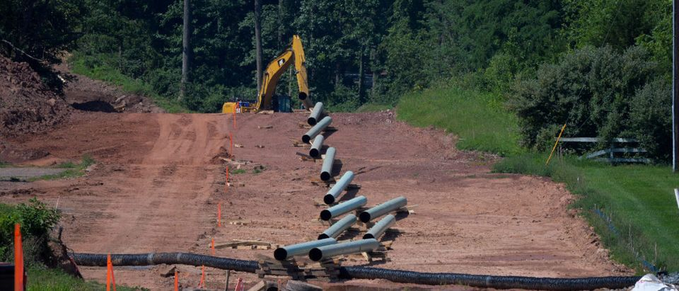Construction work continues on Sunoco's Mariner East II natural gas pipeline near Morgantown in Chester County, Pennsylvania, Aug. 1, 2017. REUTERS/Charles Mostoller