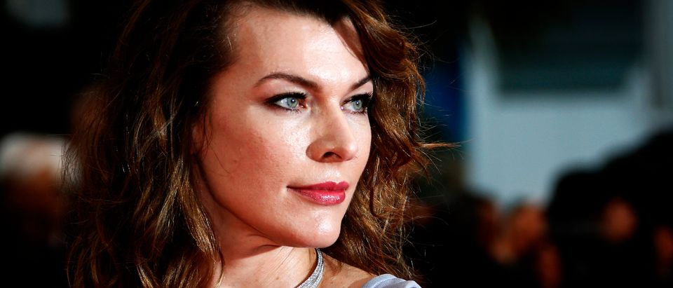 "71st Cannes Film Festival - Screening of the film ""Burning"" (Beoning) in competition - Red Carpet Arrivals - Cannes, France May 16, 2018. Milla Jovovich poses. REUTERS/Jean-Paul Pelissier"