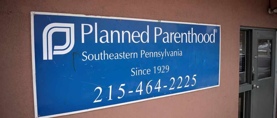The sign of the Planned Parenthood centre is pictured in Philadelphia