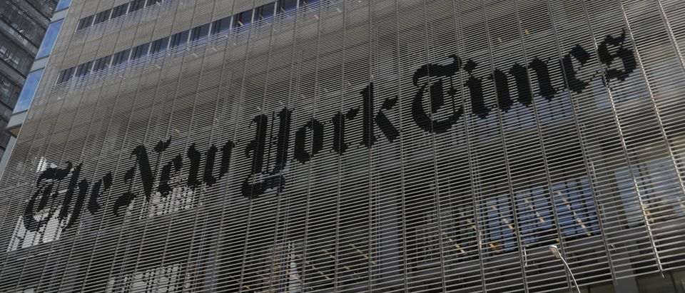 The New York Times building is seen in Manhattan, New York, U.S., Oct. 24, 2018. REUTERS/Shannon Stapleton