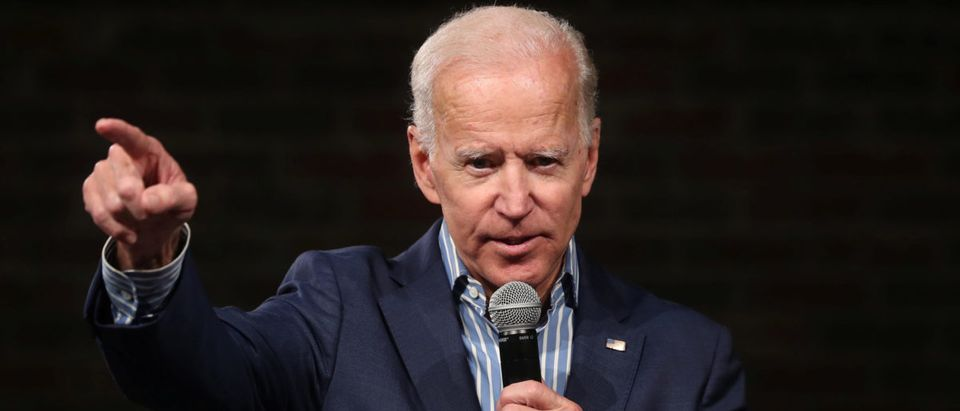 U.S. Democratic presidential candidate Biden holds a campaign stop in Des Moines, Iowa