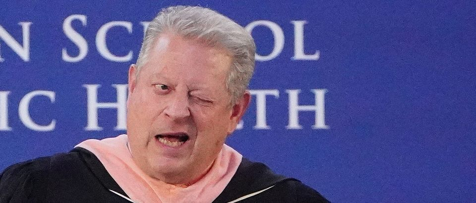 Former U.S. Vice President Al Gore speaks during commencement at the Mailman School of Public Health at Columbia University in the Manhattan borough of New York, New York, U.S., May 21, 2019. REUTERS/Carlo Allegri