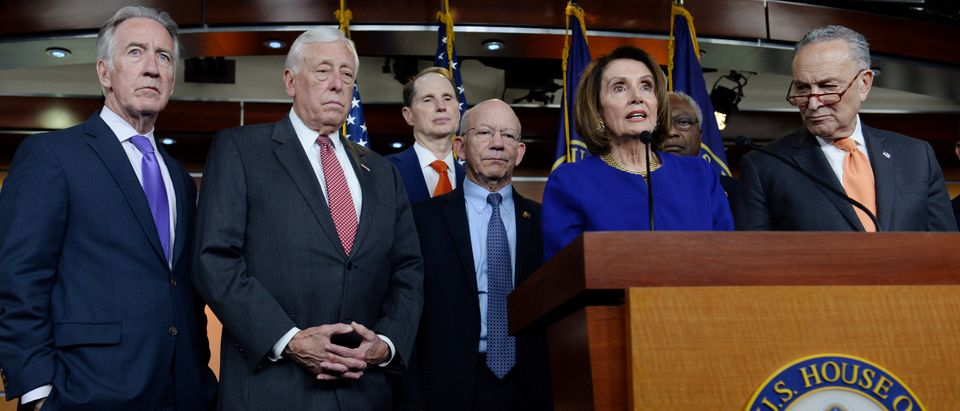 Pelosi, Schumer and Congressional Democrats speak to reporters on Capitol Hill in Washington
